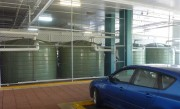 4 X 22,700L Water Tanks within Shopping Centre Car-park (supplying toilets)