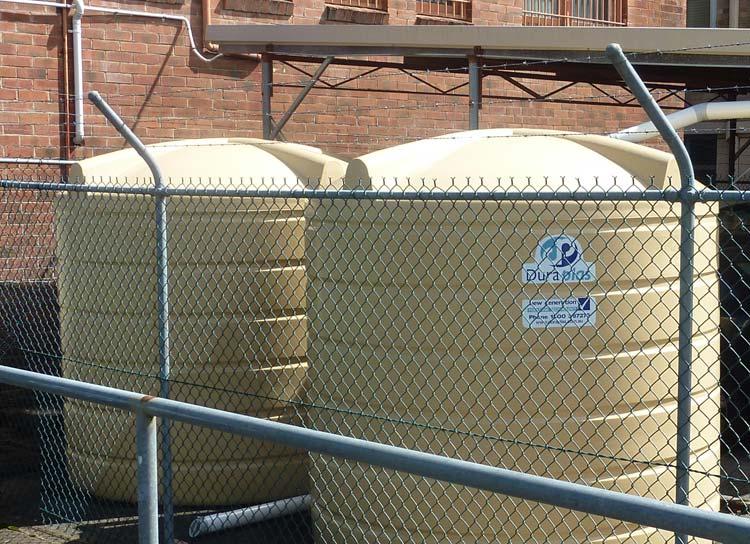 2 X 5,675 Litre Tanks at Council Building
