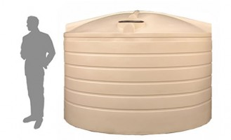 18,200 Litre / 4,000 Gallon Round Plastic Poly Water Tank