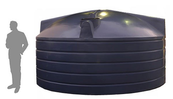 22,700 Litre / 5,000 Gallon Squat Water Tank