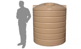 3,000 Litre / 660 Gallon Round Poly Water Storage Tank