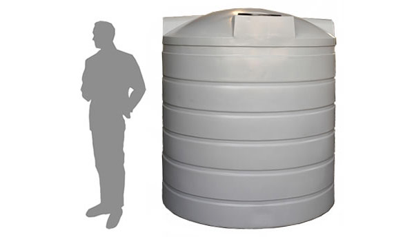 r4500 litre 1 000 gallon upright rainwater tank duraplas. Black Bedroom Furniture Sets. Home Design Ideas