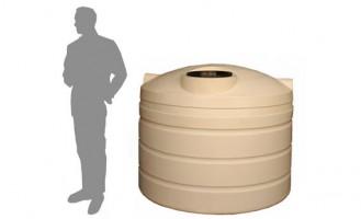 1,800 Litre / 400 Gallon Round Poly Water Storage Tank
